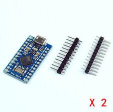 2Stk. Neu Mini Pro Micro ATmega32U4 5V 16MHz Replace Mini ATmega328 für Arduino