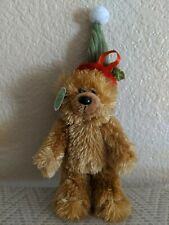 """2007 Bear Sentiments """"Chewy"""" With Holiday Hat. Tag Attached"""