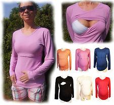 NEU Stillshirt langarm Größe M, L, XL, XXL Stillmode blau, rosa, weiss, schwarz