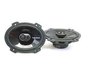 "NEW PAIR Rockford FOSGATE PUNCH P1683 6x8"" 3-Way Car Speakers 6"" x 8"" 260 W"