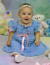 DARLING Springtime Baby Dress/Crochet Pattern INSTRUCTIONS ONLY