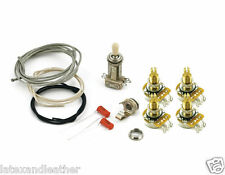 LES PAUL® WIRING KIT LONG SHAFT POTS FOR CARVED TOPS CTS 550K SWITCHCRAFT