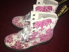 Doc Martens New Pink White 1460W Floral Paisley Boots 8