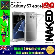 Samsung Galaxy S7 Edge Clear Soft Gel Flexible TPU Clear Fitted Case Cover Skin