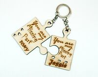 Personalised gift - Two keyrings You are my missing part Individual present