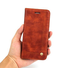 Luxury Leather Slim Wallet Magnetic Flip Case Cover For iPhone 5 SE 6 6s 7 Plus