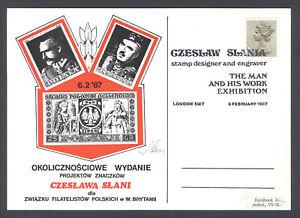 UK SLANIA EXHIBITION CARD 1987 SIGNED (13)