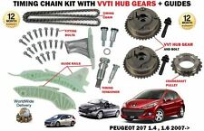 FOR PEUGEOT 207 1.4 1.6 16V VTI + CC SW 2007-> TIMING CHAIN KIT + VVT HUB GEAR