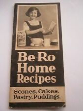 Be-Ro Home Recipes Baking Cookbook eighteenth edition vgc