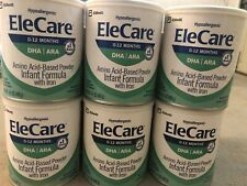6 Cans EleCare Infant Formula DHA ARA Hypoallergenic Powder 14.1oz EXP 08/2021