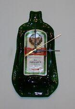 Handmade Jagermeister Wall Clock Melted Bottle Man Cave Battery Powered Novelty