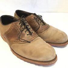 FOOTJOY Classics Size 10.5D Brown & Tan Men's Lace Up Wingtips Golf Dress Shoes