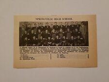 Springville Utah & Morgan Utah High School 1928 Football Team Picture