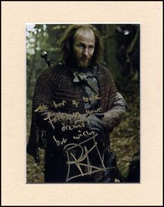 "Paul Kaye Game Of Thrones Thoros Orig. Signed 10x8"" Mounted Autograph Photo COA"