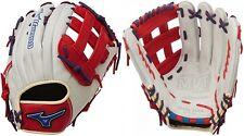 """Mizuno GMVP1300PSES4 13"""" Silver / Red / Royal MVP Prime SE Softball Glove"""