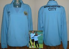 Manchester City 2011/12 Training tracksuit drill top football shirt PLAYER WORN