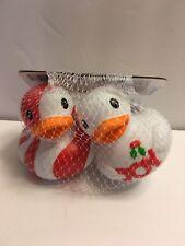 Infantino Go Gaga Squeeze & Squeak Holiday Christmas Baby Toy Bath Ducks