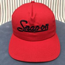 015 VTG '80s Snap On Tools Snapback K-Products Trucker Hat USA Baseball Cap RED