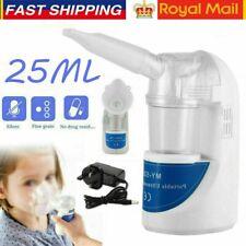 Portable Ultrasonic Inhaler Humidifier Respirator for Kids Adult Child UK PLUG