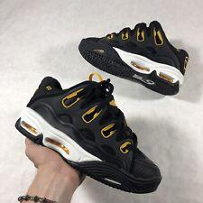 Osiris D3 2001 retro puffy chunky Skate Shoes Black Yellow reflective Mens SZ 9