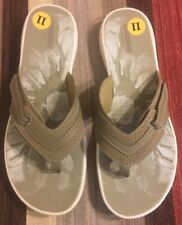 CLARKS Women's Brinkley Keeley Flip Flop, Greystone, 11 M US