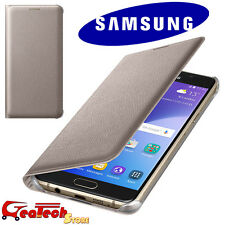 Custodia Flip Wallet ORIGINALE SAMSUNG Per Galaxy A5 2016 Cover Slim Oro Gold