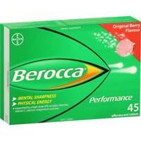 BEROCCA PERFORMANCE 45 EFFERVESCENT TABLETS ORIGINAL BERRY MENTAL SHARPNESS