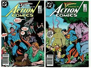 ACTION COMICS 16 Book Lot 370 - 590, Avg Condition VF/NM