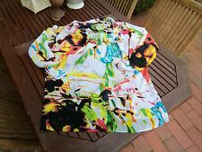 MAIS IL EST OU LE SOLEIL Kleid Tunika Bluse Graffity Wasserfall M bunt 38 / 40
