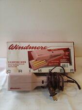 Vintage Windmere Crimping Iron Style Texture Model WMC 1/334 w/box TESTED