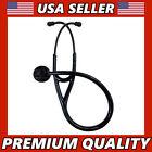 Cardiology Stethoscope Tunable Diaphragm Black Edition Single Head Professional