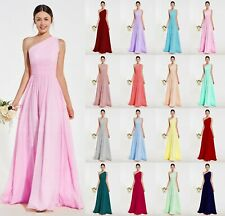 Formal Long Chiffon Evening Party Ball Gown Prom Bridesmaid Dresses Size 6-24