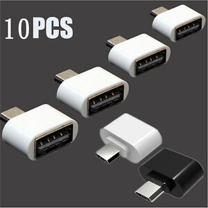 10pcs OTG Adapter Host Converter Micro USB Male to USB 2.0 For Android Tablet
