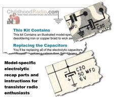 Packard-Bell 6Rt1 Transistor Radio Electrolytic Recap Kit Parts & Documents