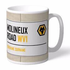 Personalised WOLVERHAMPTON WANDERERS Football Club FC Street Sign Mug Wolves