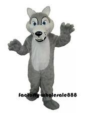 Halloween Wolf Siberian Husk Dog Mascot Costume Animal dress Adult Free Shipping