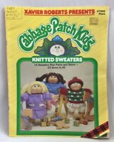 1985 Cabbage Patch Kids Knitted Doll Sweaters Pattern Book 2670F