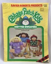 1985 Cabbage Patch Kids Knitted Sweaters Pattern Book 23 Items Doll Clothes 2670