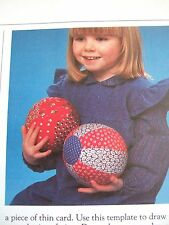 Vintage SEWING PATTERN Jean Greenhowe PATCHWORK PLAYBALLS Toddler Baby Ball Toy