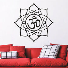 Mandala Flower Om Symbol Car Strong Adhesive Quote Decal Wall Sticker Home Decor