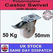 Fixman Polypropylene Castor Swivel with Brake 50mm 50kg Wheel - 112547