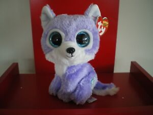 Ty Beanie Boos IRIS wolf 6 inch NWMT. Great Wolf Lodge Exclusive.