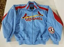 Majestic Cooperstown St Louis Cardinals Fleece Lined Bomber Jacket Men M Blue