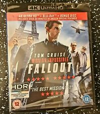 Mission Impossible Fallout 4k HDR  Factory Sealed 3 Disks Limited time low price