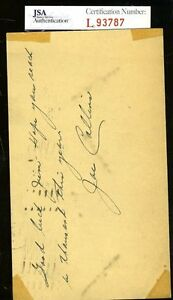 Joe Collins Yankees Jsa Authenticated Signed 1949 Gpc Autograph