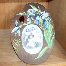 Vintage wooden carved / handpainted frame, painters pallet