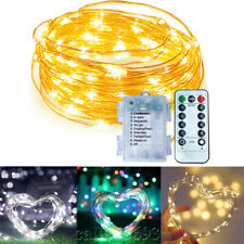 Micro LED Sliver Copper Wire Battery Fairy Rice Light Christmas Party Decoration