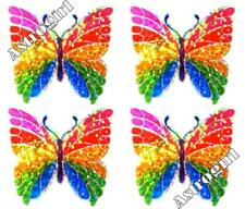 ~ Sparkle Rainbow Butterfly Butterflies Pink Hambly Studio Glitter Stickers ~