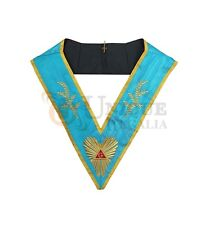 Masonic Memphis Misraim Past Master Worshipful collar Machine embroided MC021