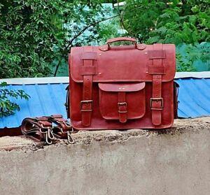 Handmade Vintage Goat Leather Messenger Cross body Convertible Backpack Handbag